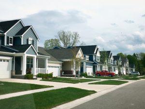 Row of neighborhood houses